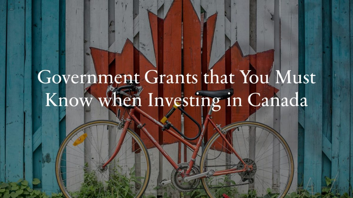 Government Grants that You Must Know when Investing in Canada